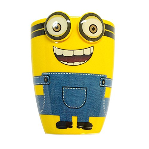YOURNELO Ceramic Minions Cup Pen Pencil Holder Desk Organizer Accessories (Risus)