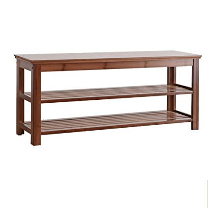 Awe Inspiring Amazon Com Change Shoe Bench Natural Bamboo Shoe Rack Bench Customarchery Wood Chair Design Ideas Customarcherynet