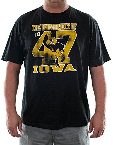 University of Iowa Black Adult T-shirt (Adult XXL)