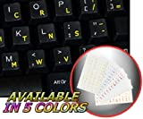 DVORAK SIMPLIFIED KEYBOARD STICKERS WITH YELLOW LETTERING TRANSPARENT...