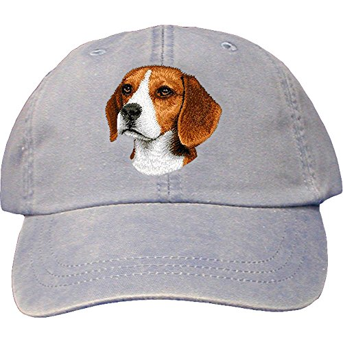 Cherrybrook Dog Breed Embroidered Adams Cotton Twill Caps - Periwinkle - Beagle