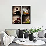 Wieco Art Red Wine Cups HD Modern 4 Pieces