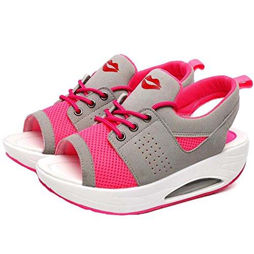 Rose Mesh Sandalen Toe ANDAY Frauen Trainer Atmungsaktives Sport Peep Lips Iz6CwB
