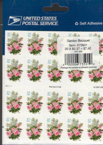 Garden Bouquet 20 x 37 cent US Stamps 3836 NEW (Imperial Garden State Garden)