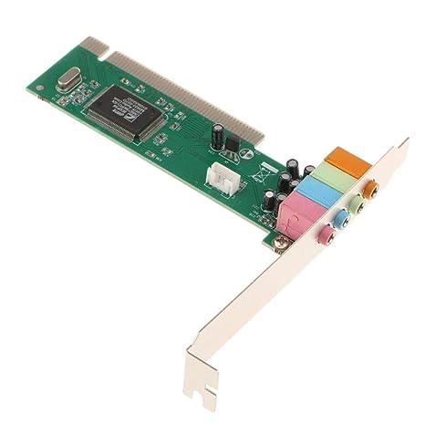 Tarjeta de Sonido PCI Convertidor Adaptador 5.1 Canales ...