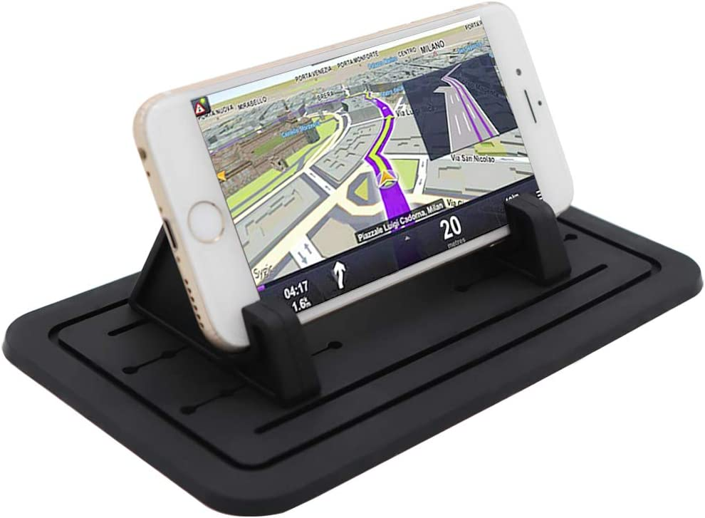 Cell Phone Holder for Car, Showvigor Silicone Car Phone Dashboard Car Pad Mat, Vehicle GPS Mount Universal Fit All Smartphones, Anti-Slip Desk Phone Holder Stand