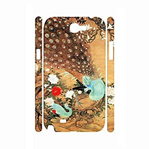 Beautiful Peacock Picture Pretty Style Phone Accessories Hard Plastic Cover for Samsung Galaxy Note 2 N7100 Case