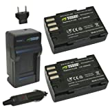 Wasabi Power Battery (2-Pack) and Charger for Pentax D-LI90