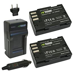 Wasabi Power Battery (2-Pack) and Charger for Pentax D-LI90 and Pentax 645D, 645Z, K-01, K-3, K-5, K-5 II, K-5 IIs, K-7