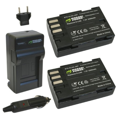 Wasabi Power Battery  and Charger for Pentax D-LI90 and Pent