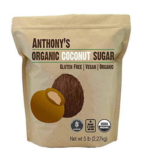 (Anthonys Organic Coconut Sugar 5lbs, Non-GMO and Gluten Free)