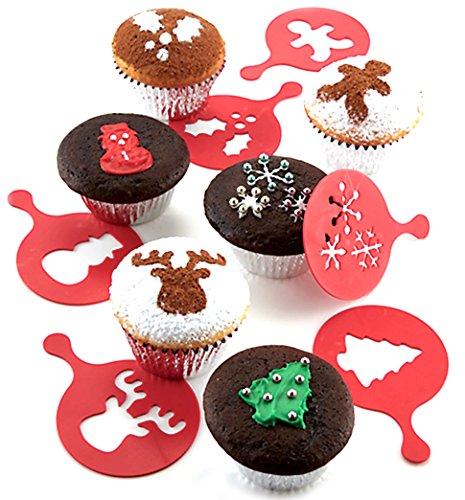 Chicago Metallic Holiday Cupcake Stencils Set of 6