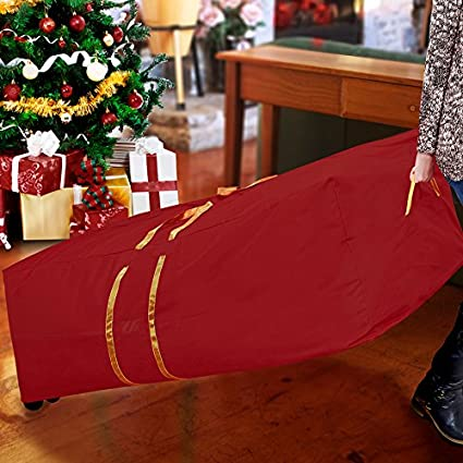 Amazon.com  Simplify 9 Foot Christmas Tree Storage Bag With Wheeled ... 34635e2fe465b