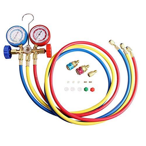 - Coaste AC Diagnostic Manifold Freon Gauge Set, Air Conditioning Tool for R134A R12 R22 R502 Refrigerants, Refrigerant Meter for Snow Seeds