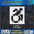Pavement Stencils - 42 in - Accessible Icon Symbol Stencil - 42'' x 33''