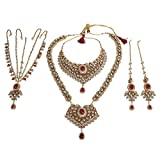 Ethnic Traditional Bollywood Fashion Polki Indian Necklace Earring Kundan Bridal Set Partywear Jewelry