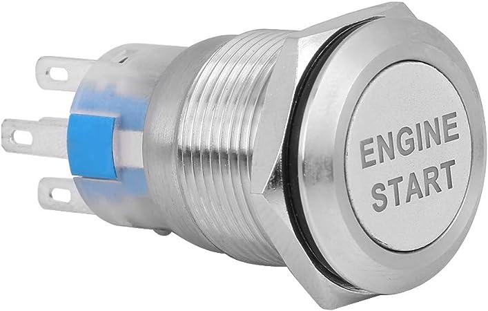 Qiilu Motorknopf Anlasser Zündkerze Taster Switch Boot Auto Motor 12 V Wasserdicht Auto