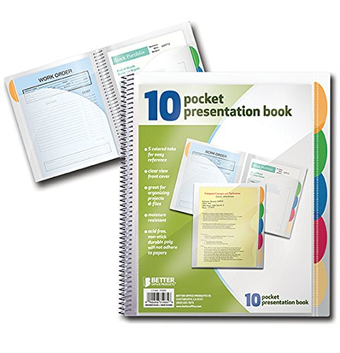 10 Pocket Poly Presentation Folder with tabs, 2 count Photo #2