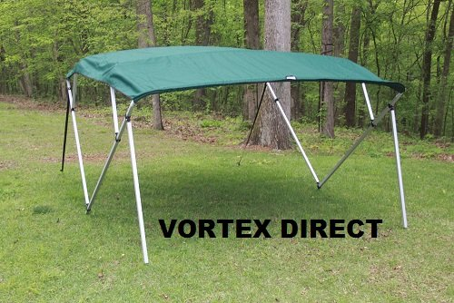 E FRAME VORTEX 4 BOW PONTOON/DECK BOAT BIMINI TOP 10' LONG, 91-96