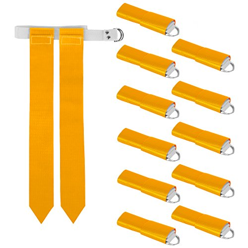 Crown Sporting Goods 12-Pack Flag Football Team Set - Includes 12 Belts with 24 Flags, Accessories for Flag & Touch Games, Practices, Training from Crown Sporting Goods