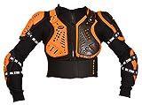 XTRM Motocross Protective Gear Kids Body Armour Childrens Off Road Quad Pit Bike Junior Mx Racing Full Deflector Cub Jacket in Orange - Orange - 10 Years