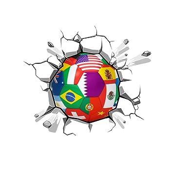 Balón de fútbol a través de la etiqueta de la pared Nuevas ...