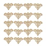 Flameer 10 Pairs Vintage Style Diamante Rhinestone Crystal Shoe Clips Shoe Charms