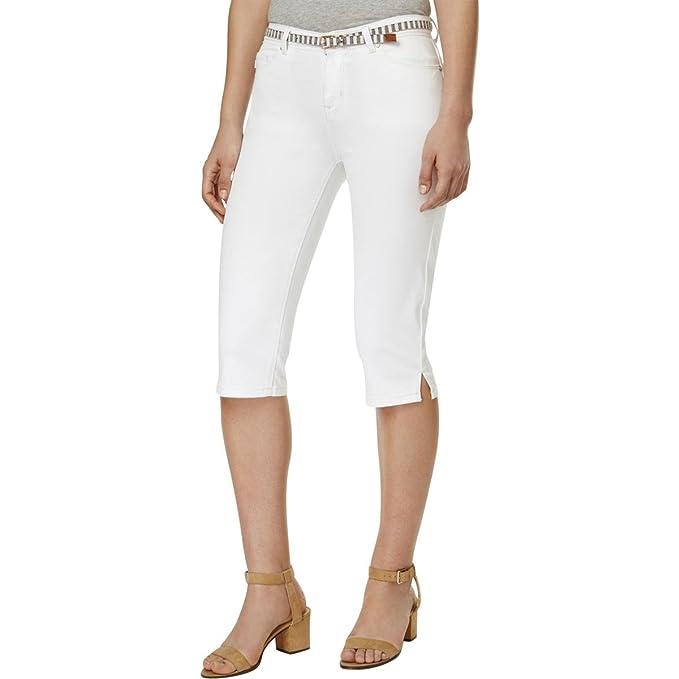 de Blanco Lee Mujer Pantalón Rayas para Color diseño Blanco Capri Platinum zgYzZ