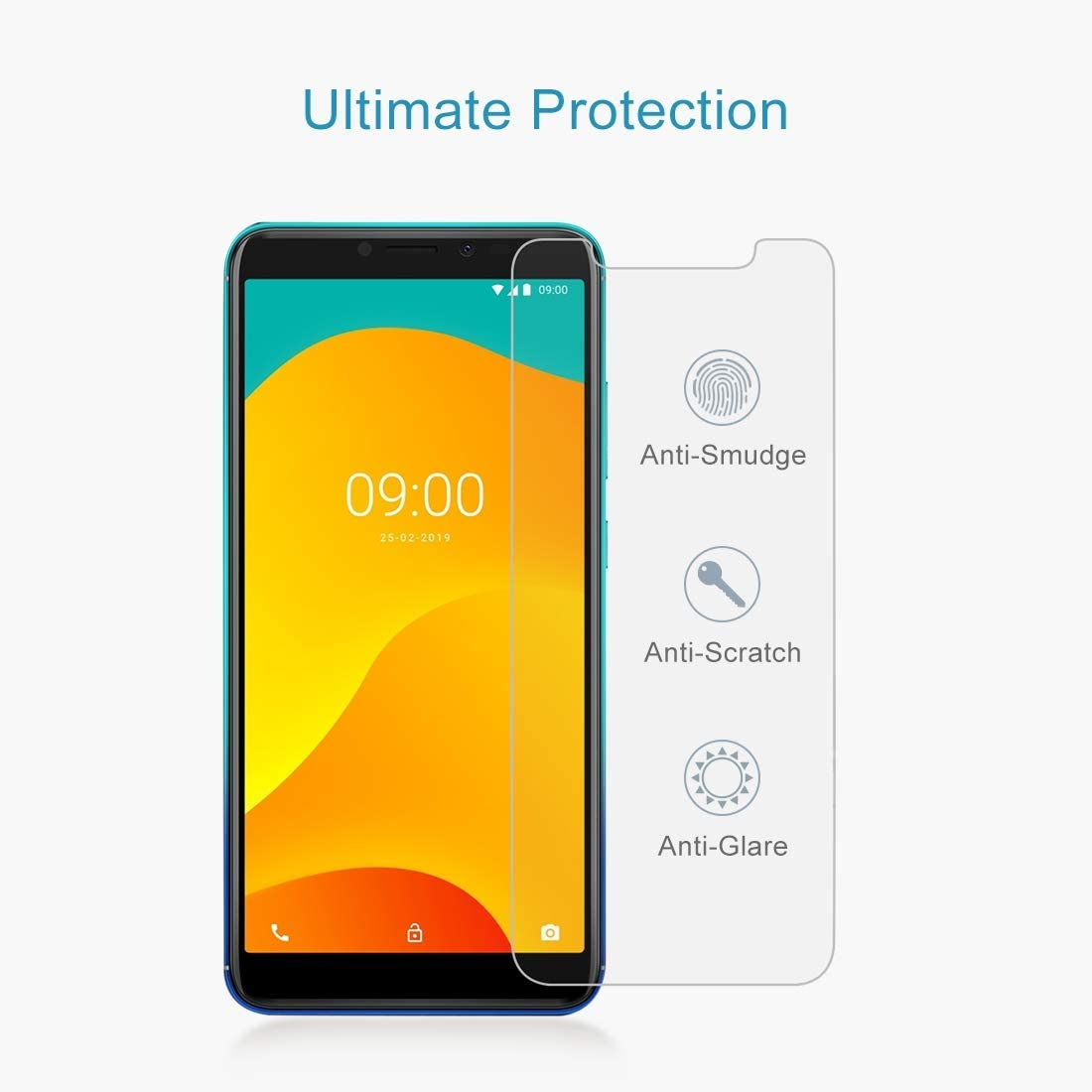 YINZHI Screen Protector Film 100 PCS0.26mm 9H 2.5D Tempered Glass Film for Alcatel Pixi 4 5.5 inch Clear