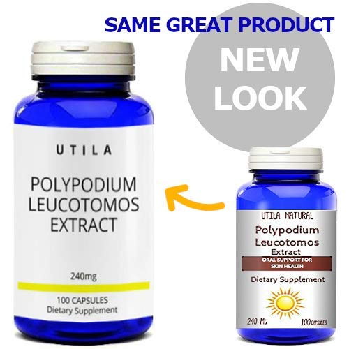 Polypodium Leucotomos Extract Supplement, 240mg, 100 Cap, for Healthy Skin Care - Gluten Free