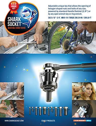 - Adjustable Socket Device A.S.D | Heavy Duty Universal Shark Socket