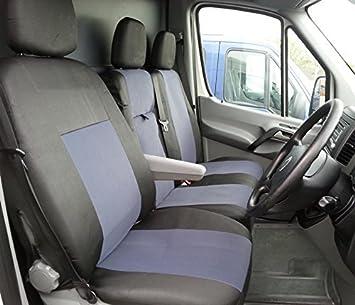 Fundas de asiento de tela, de Flexzon, 2 más 1, color gris y