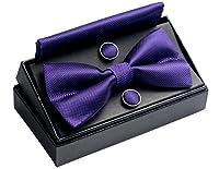 OUMUS Adjustable Classical Men's Pre-Tied Bow Tie Set