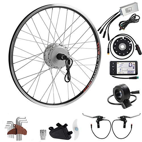 SEASON E-Bike Conversion Kit 36V 350W 26 Inch Rear Wheel Motor fit for Cassette for Electric Bicycle in Silver