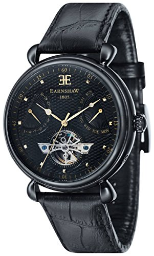 Thomas Earnshaw Womens The Grand Calendar Watch - Black/Black