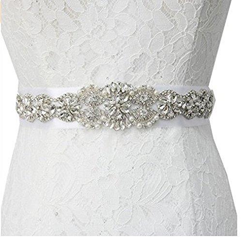 TRLYC - Faja con aplique de cuentas de cristal para novia, color champán: Amazon.es: Hogar