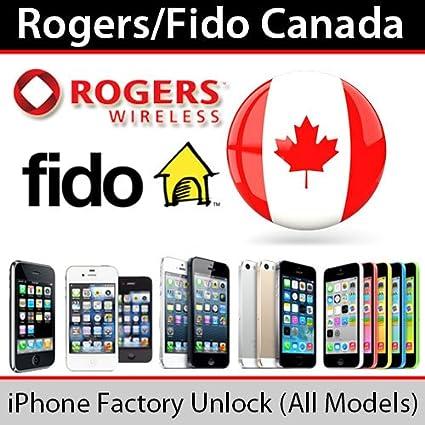 Amazon com : Rogers Fido Canada iPhone Unlock Service 4 4S 5 5C 5S 6