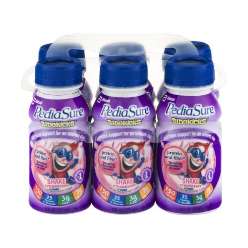 PediaSure Sidekicks Shake Strawberry , 48 FZ (Pack of 4)