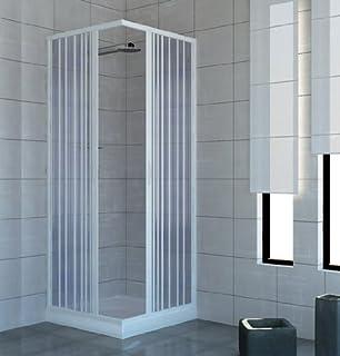 Relativ Eckeinstieg Duschkabine Kunststoffglas Tropfendekor Silberne  ST96