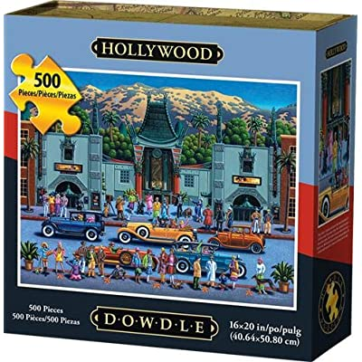 D·O·W·D·L·E Dowdle Jigsaw Puzzle - Hollywood - 500 Piece: Toys & Games