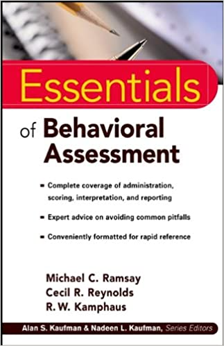 Essentials of Behavioral Assessment (Essentials of Psychological
