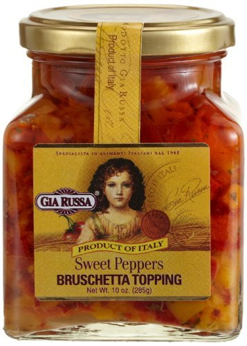 (Gia Russa Sweet Pepper Bruschetta Topping, 10-Ounce Glass Jars (Pack of 3) by Gia Russa)