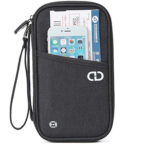 Premium Travel Wallet Organiser with RFID Blocking. Perfect Passport Holder...