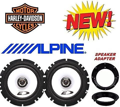 96-2013 Alpine Harley Touring Speaker Package with Adapter Rings (Metra Marine)
