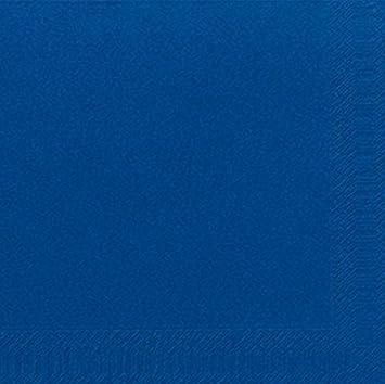 Duni Dinner-Servietten 3lagig Tissue Uni dunkelblau 20 Stück 40 x 40 cm