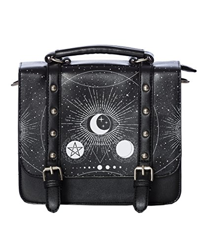Banned Sac à main symboles lunaire et occultes, pentacle protection, witchy nugoth