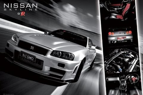 Nissan Gtr Racing Car Poster
