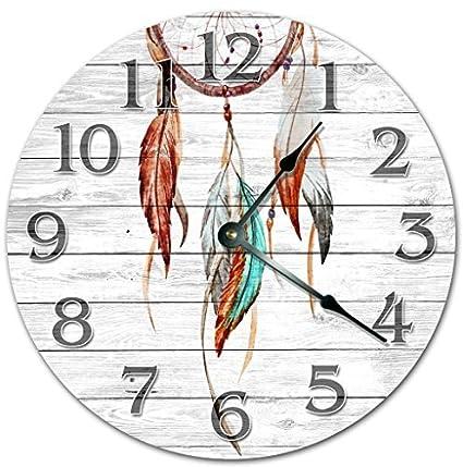 Amazon Modern Wooden Clock For Kids Dream Catcher Clock Girls
