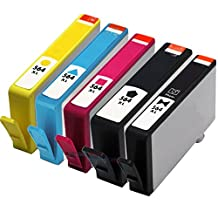 INKTONER New Version Remanufactured HP564XL (1LB/1SB/1C/1M/1Y) For PhotoSmart 7510 7520 Printer by Ink Toner