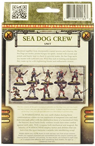 Privateer Press - Warmachine - Mercenary: Privateer Sea Dog Crew Box Model Kit 4